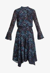 Hope & Ivy - FLUTED SLEEVE AND HANKY HEM MIDI DRESS - Vestido de cóctel - Dark blue - 6