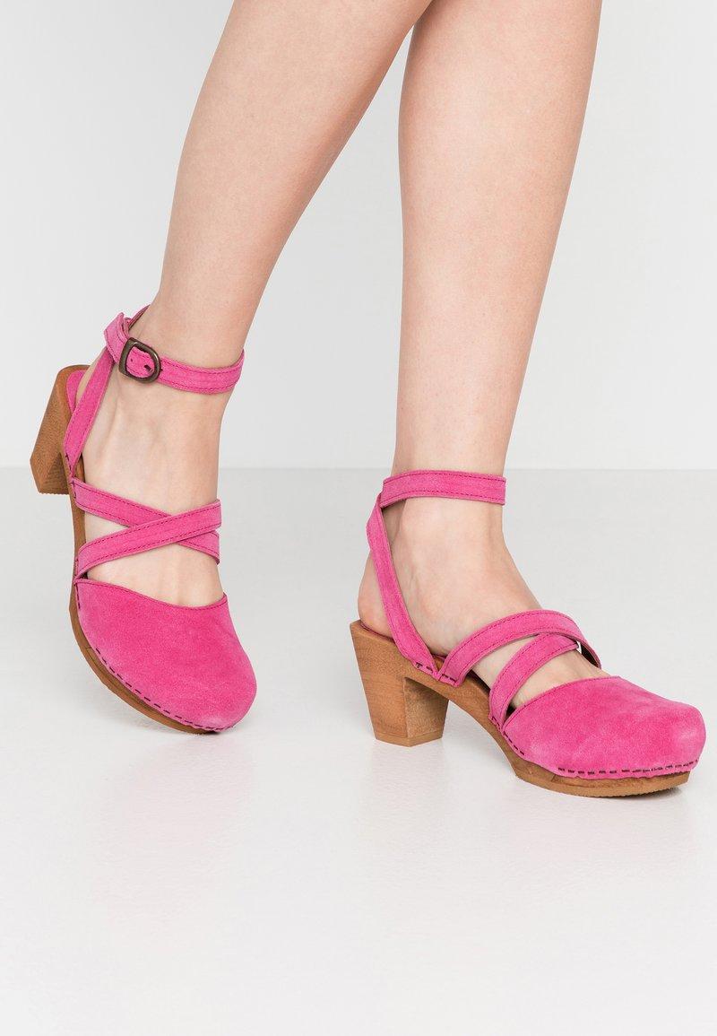 Sanita - TINJA SQUARE FLEX  - Dřeváky - pink