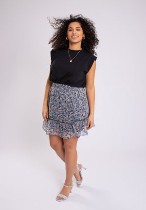 MET PRINT - A-line skirt - multi-color
