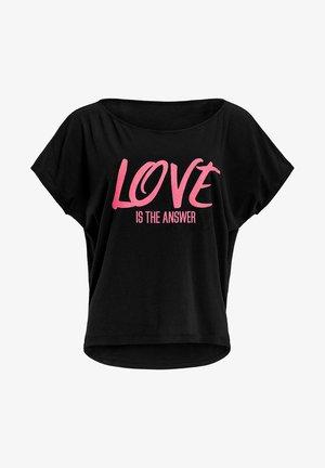 MCT002 ULTRA LIGHT  - T-shirt print - black/glitter/neon pink