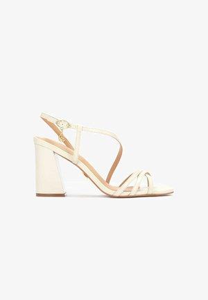 SUZETTE - High heeled sandals - beige
