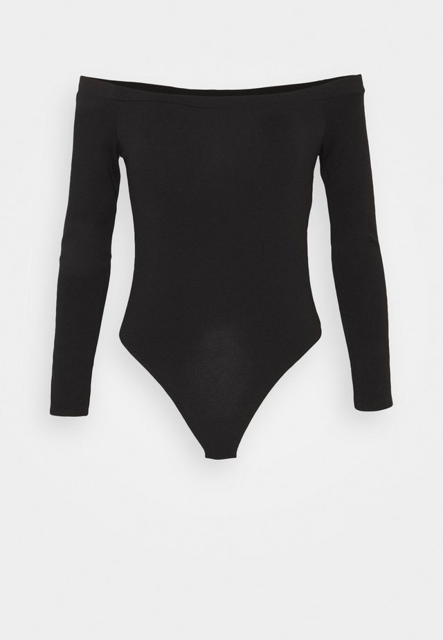 LONG SLEEVED BARDOT - Maglietta a manica lunga - black