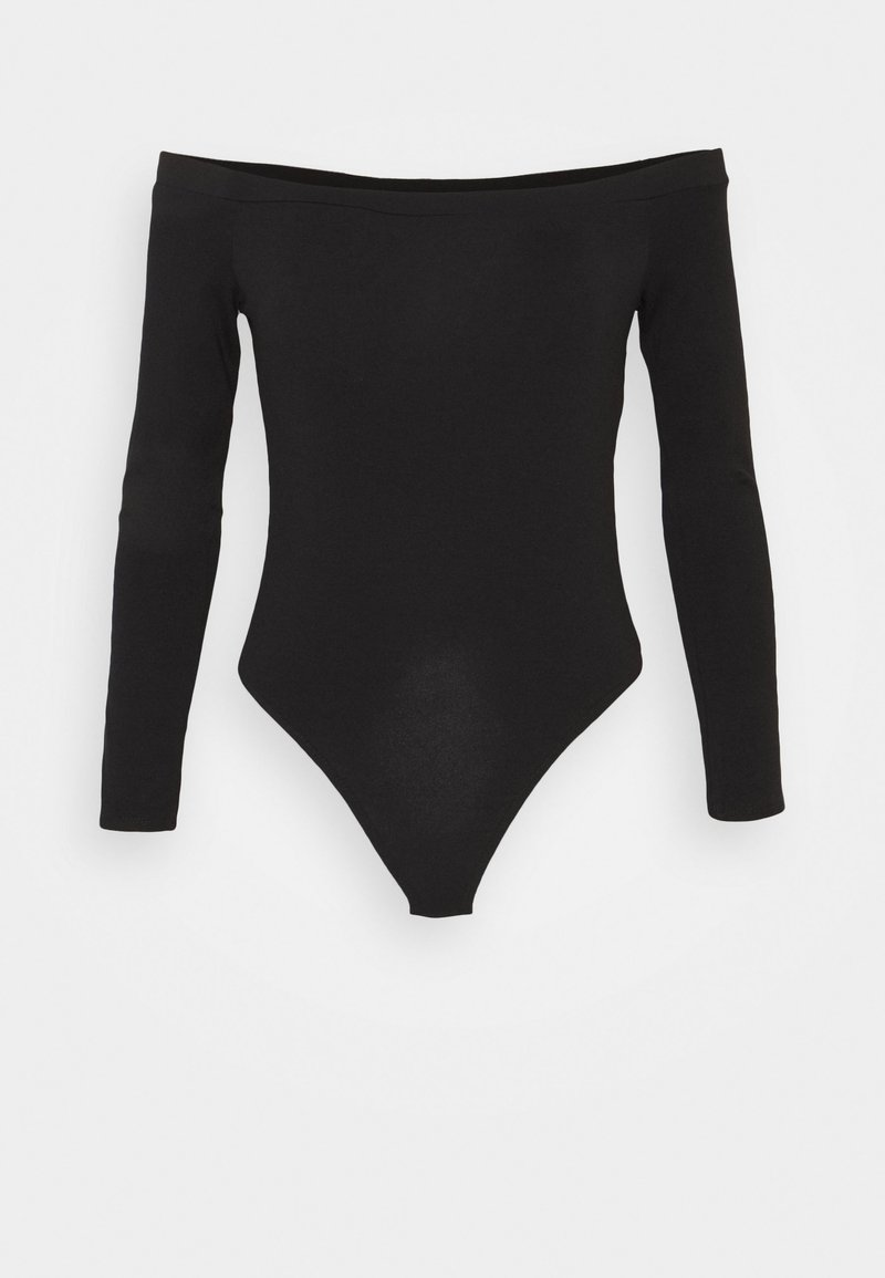 Missguided Tall - LONG SLEEVED BARDOT - Long sleeved top - black