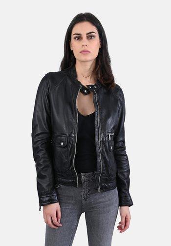 VENECIA - Leather jacket - black