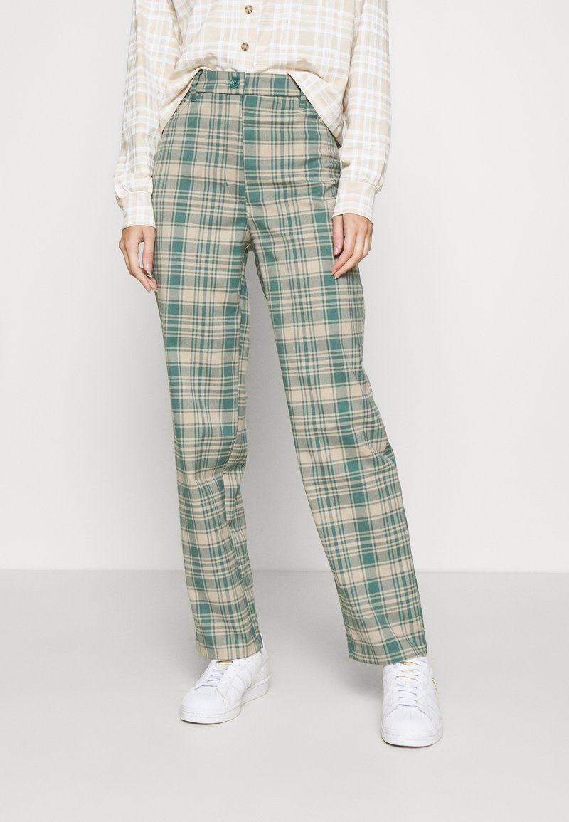 Monki - SIMONE TROUSERS - Bukse - green medium/dusty unique