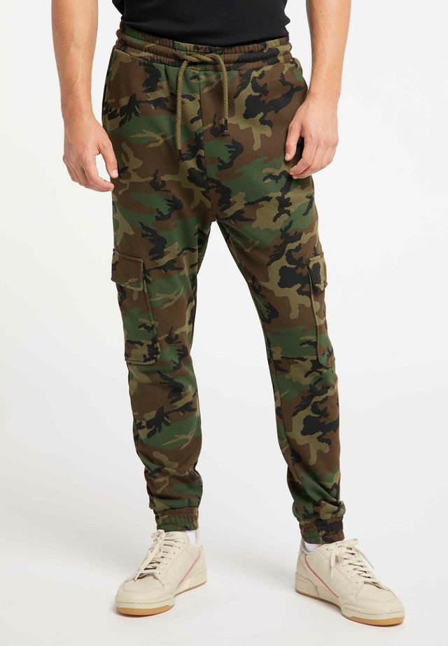 Tracksuit bottoms - camouflage aop
