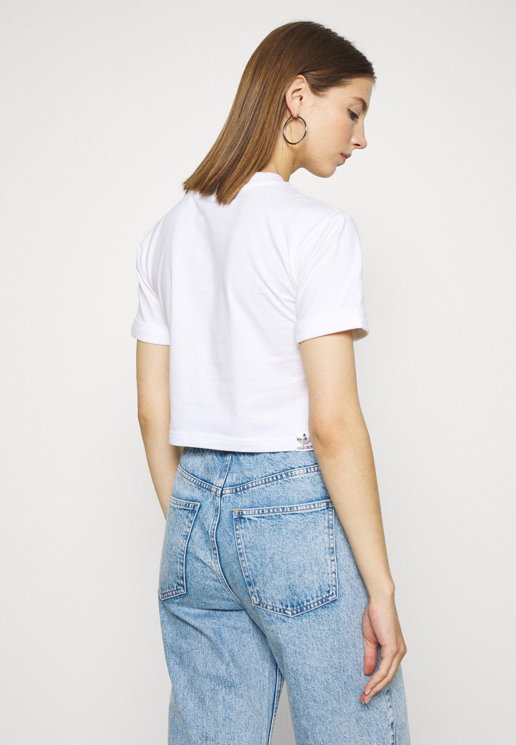 Adidas Originals Pride Short Sleeve Graphic Tee - T-shirts Med Print White/hvit