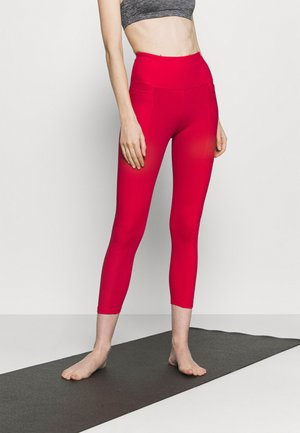 POCKET 7/8 - Leggings - red