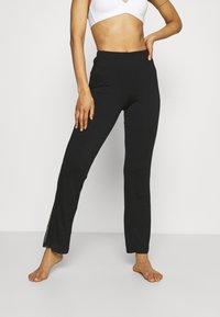 LASCANA - PANTS - Pyjama bottoms - black - 0