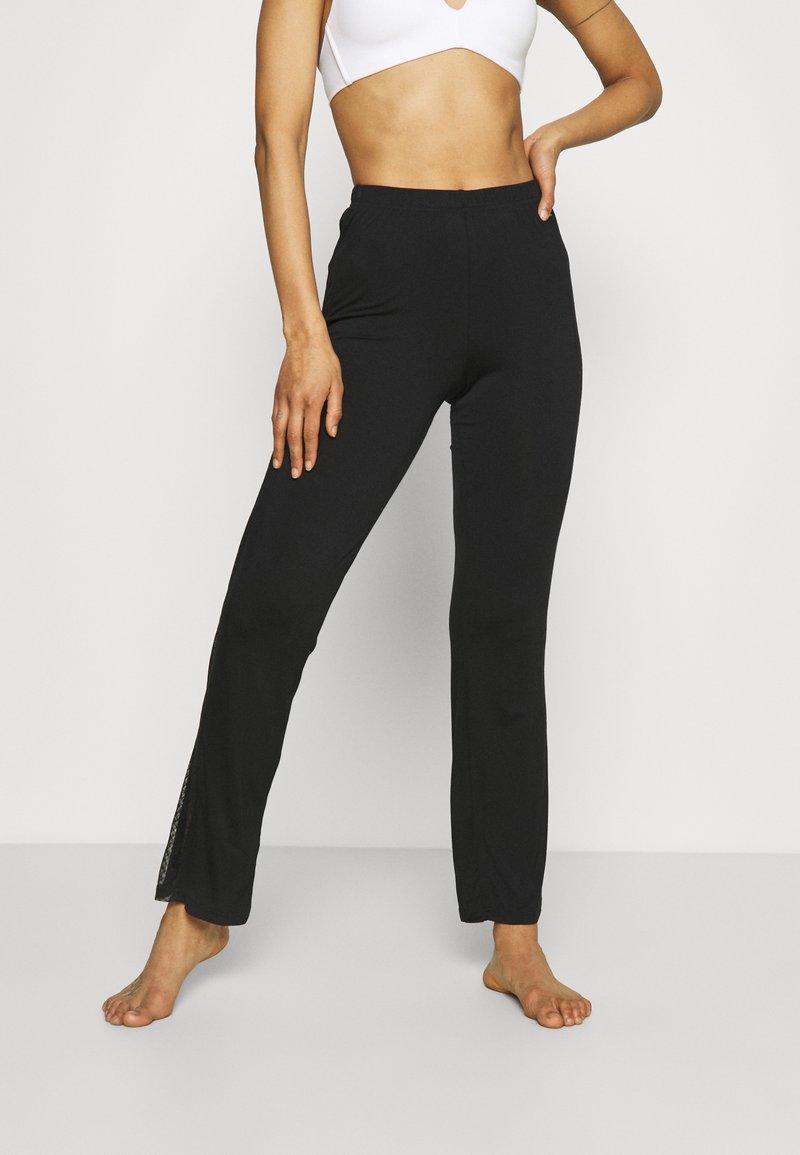 LASCANA - PANTS - Pyjama bottoms - black