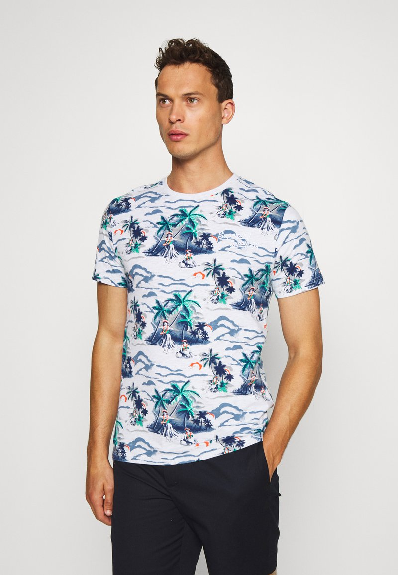 Superdry - SUPPLY - Print T-shirt - ice marl