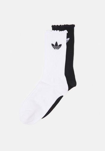 RUFFLE 2 PACK - Socks - white/black