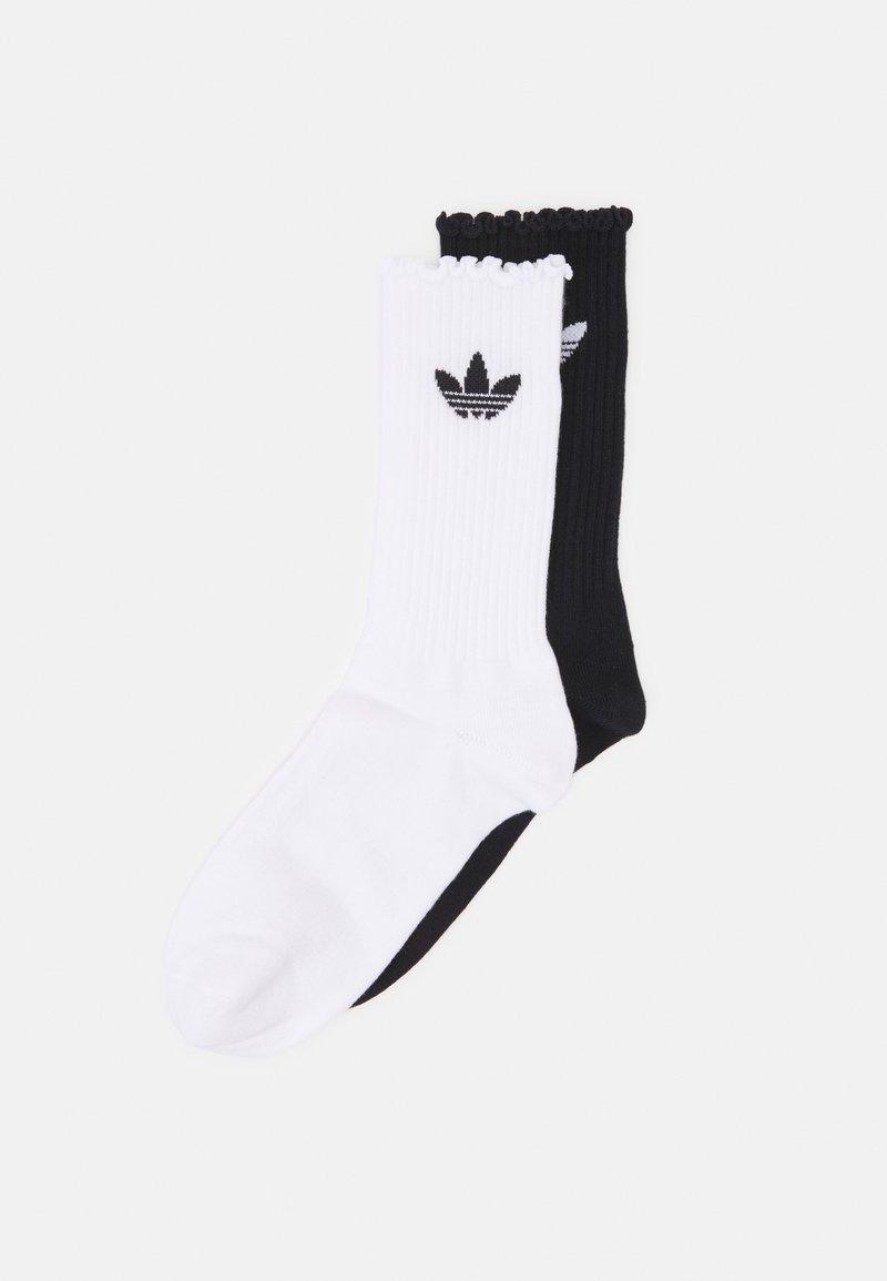 adidas Originals - RUFFLE 2 PACK - Socks - white/black