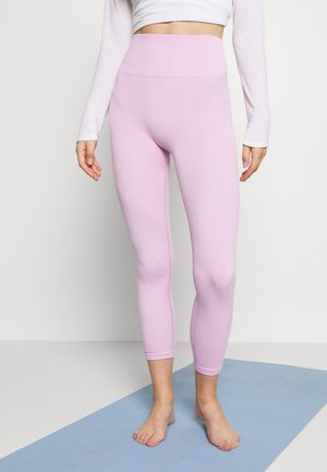 SEAMLESS 7/8 - Leggings - light arctic pink/white