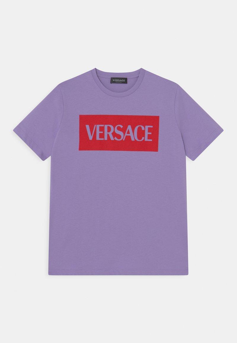 Versace - UNISEX - Print T-shirt - lilla/rosso