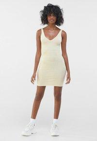 Bershka - Shift dress - yellow - 1