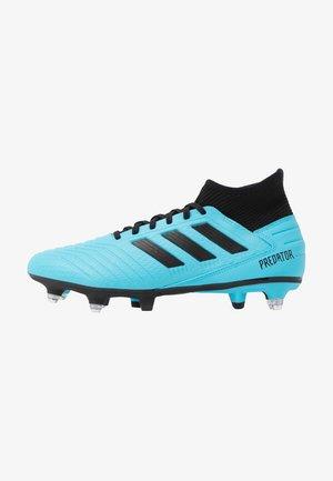 PREDATOR 19.3 SG - Screw-in stud football boots - bright cyan/core black/solar yellow