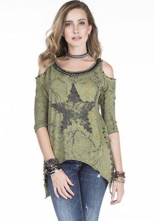 METAL STAR - Long sleeved top - khaki