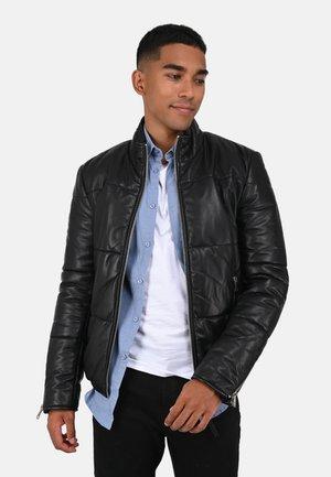 RECORD - Leather jacket - black