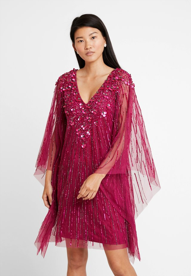 BEADED SHORT - Cocktail dress / Party dress - red plum