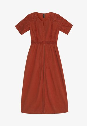 YASKAILEY THROW OVER FEST - Day dress - red ochre