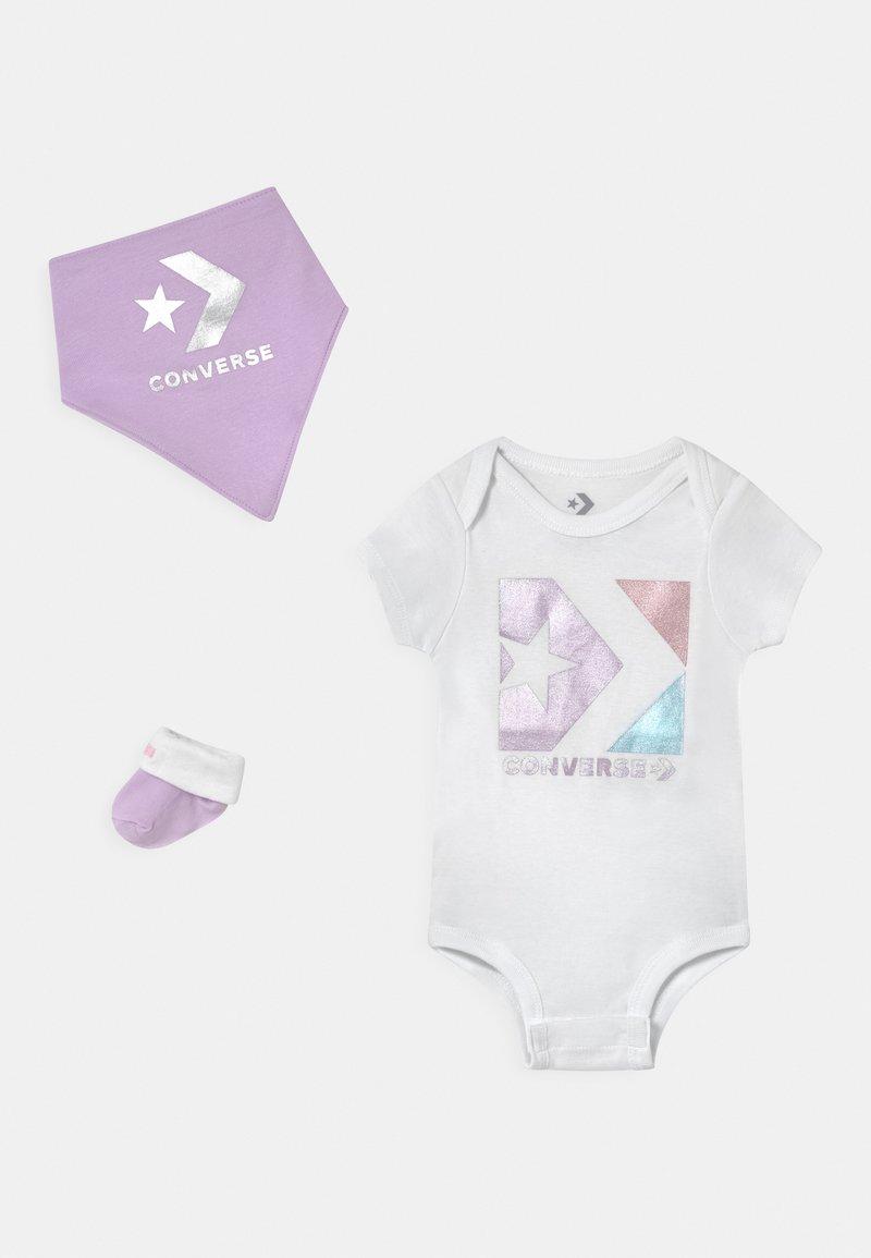 Converse - STAR CHEVRON SET - Print T-shirt - lilac mist