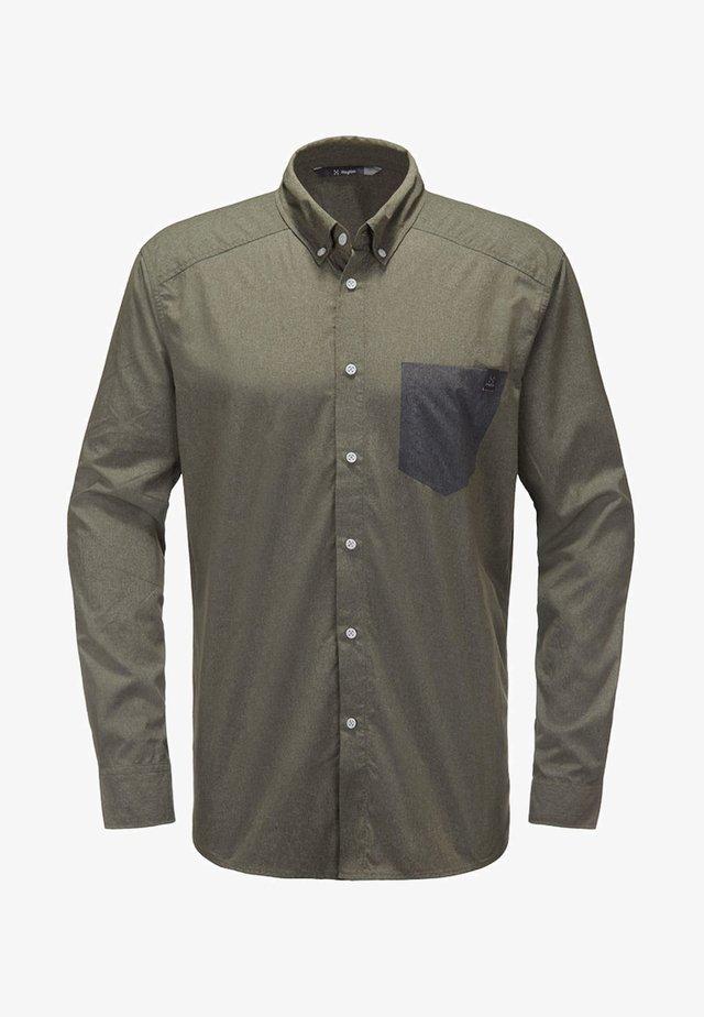 VEJAN LS SHIRT - Shirt - sage green