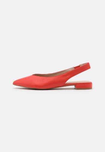 MYRYAN - Slingback ballet pumps - bright orange