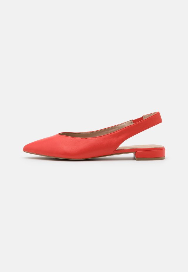 MYRYAN - Slingback ballet pumps - bright orange