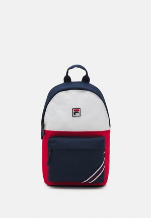 HERITAGE STRIPE SMALL BACKPACK COOL TWO UNISEX - Batoh - black iris/true red/bright white
