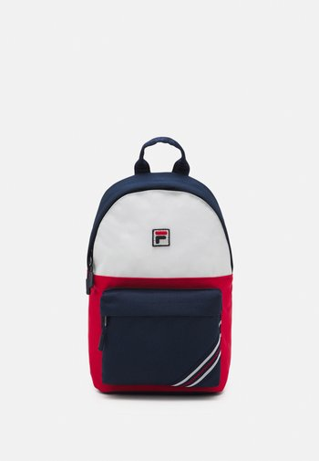 HERITAGE STRIPE SMALL BACKPACK COOL TWO UNISEX - Rucksack - black iris/true red/bright white