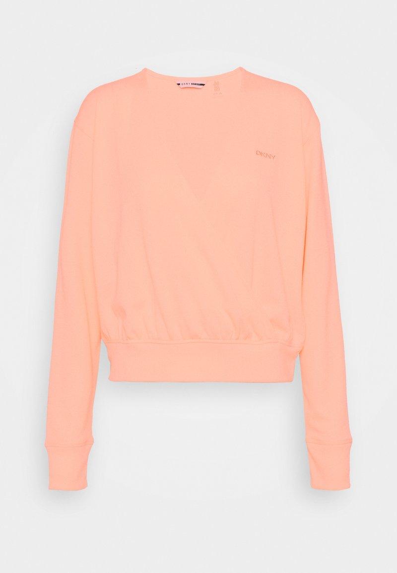 DKNY - WAFFLE WRAP - Sweatshirt - mimosa