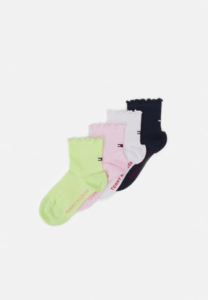 KIDS SHORT SOCK RUFFLE 4 PACK - Socks - white