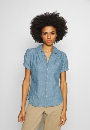 BELLA SHORT SLEEVE SHIRT - Camisa - medium indigo