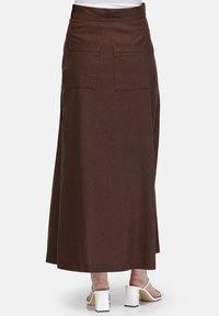 HELMIDGE - Maxi skirt - braun - 2
