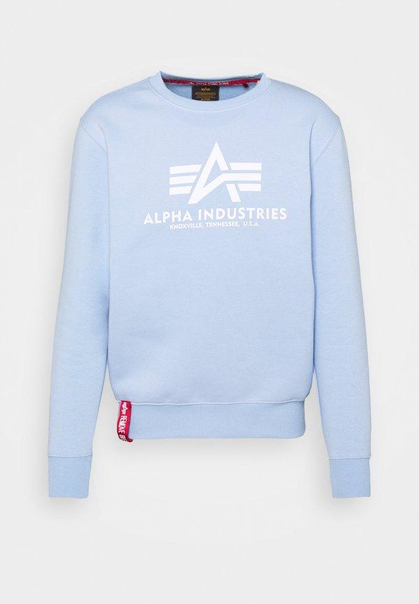 Alpha Industries BASIC - Bluza - light blue/jasnoniebieski Odzież Męska FWRX