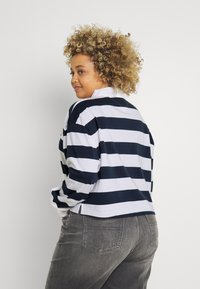 Tommy Jeans Curve - STRIPED RUGBY - Polo shirt - twilight navy - 2
