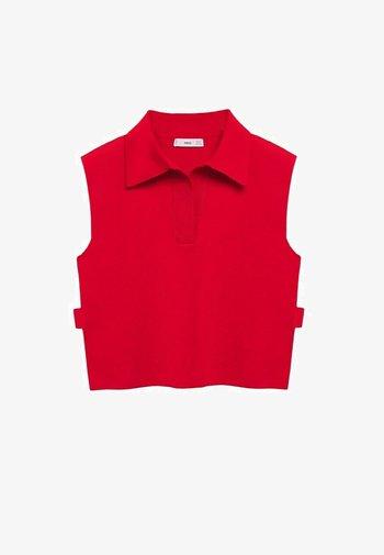 MIT SEITENSCHLITZ - Polo shirt - rot