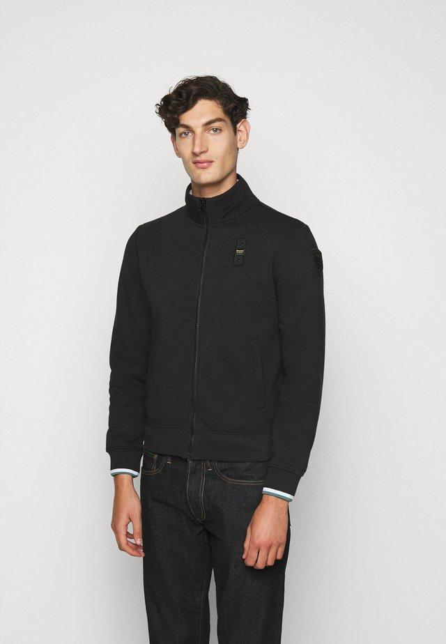 FELPA APERTA - veste en sweat zippée - black