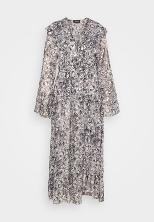 DRESS - Maxi dress - black/ecru