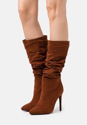 SELAH - High heeled boots - cognac