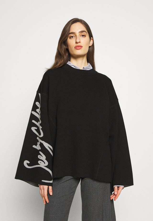 Pullover - charcoal black