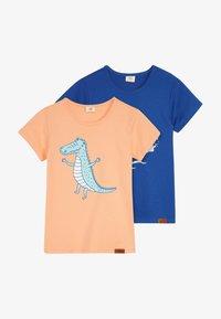 Walkiddy - CROCODILE SURFING PLACEMENT 2 PACK - T-shirt con stampa - dark blue/orange - 3