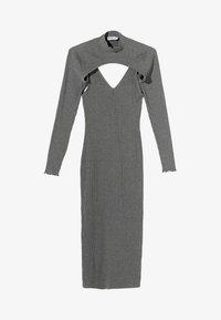 Bershka - Pouzdrové šaty - light grey - 4