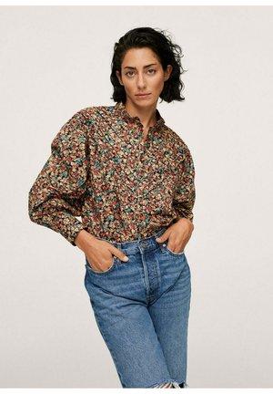 BLOUSE  - Button-down blouse - bruin
