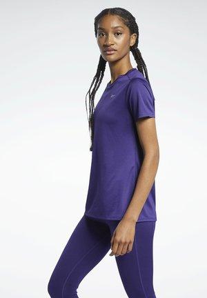 RUN ESSENTIALS T-SHIRT - Print T-shirt - purple