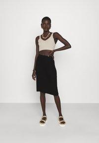 Filippa K - OLIVIA SKIRT - Pouzdrová sukně - black - 1
