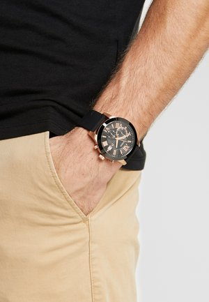 MENS DRESS - Chronograph watch - black/rose