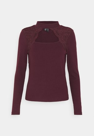 VMAMELIA HIGHNECK LACE - Long sleeved top - winetasting