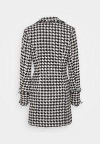 Missguided - TAILORED BLAZER DRESS HOUNDSTOOTH - Kjole - white - 1